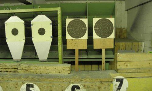 Exemple de cible 25M à gauche: précision, à droite : VO
